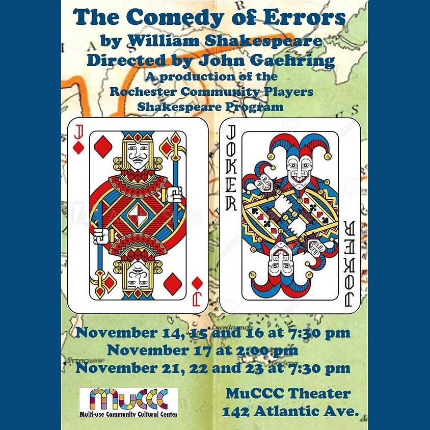 The Comedy of Errors, presented by Rochester Community Players