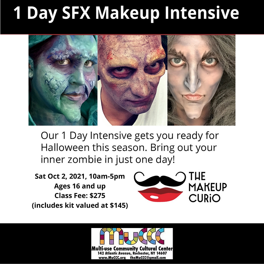 cancelled- 1 Day SFX Makeup Course By The Makeup Curio