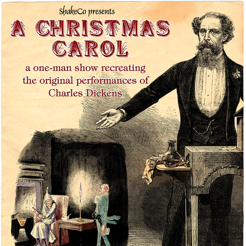 """ShakeCo: The Shakespeare Company presents a one-man-show of Charles Dickens' """"A Christmas Carol."""""""
