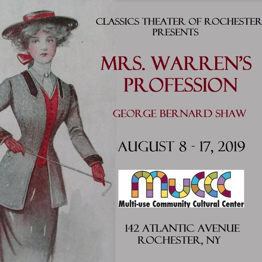 Mrs. Warren's Profession – by George Bernard Shaw