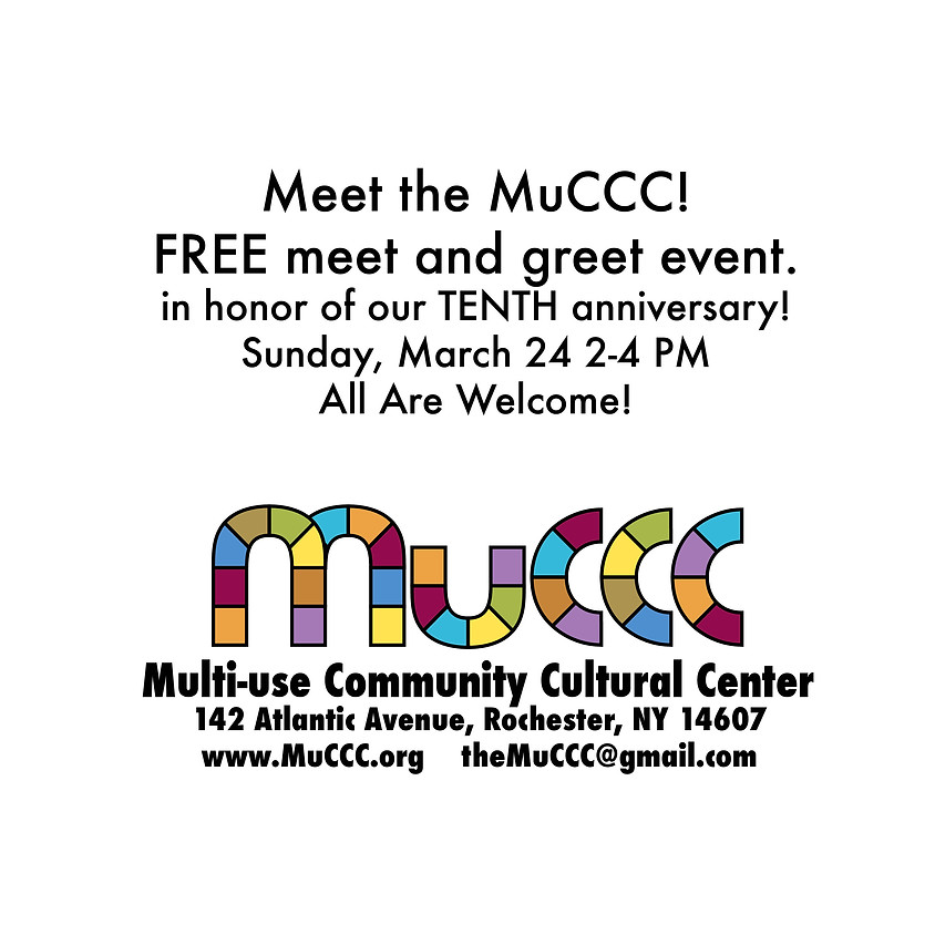 """'Meet the MuCCC""""  FREE"""