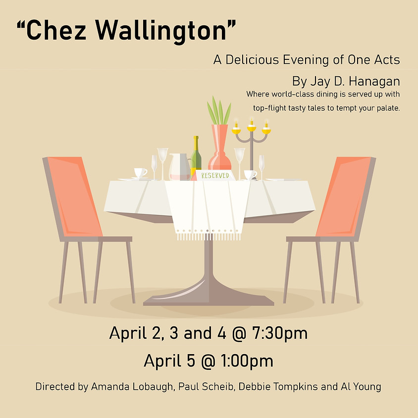 POSTPONED- Everyone's Theatre Company presents Chez Wallingon By Jay D. Hanagan