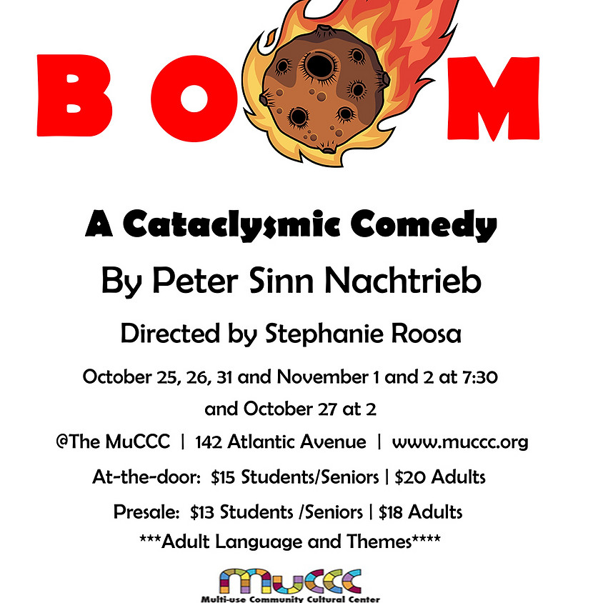 Out Of Pocket Productions Presents: Boom by Peter Sinn Nachtrieb