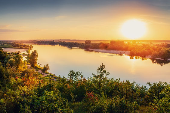 View of the river valley. Vistula river
