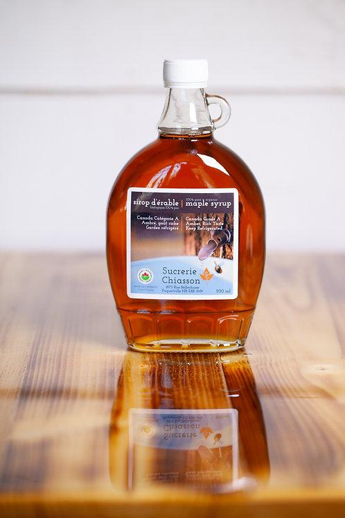 Sirop d'érable Biologique - 500ml - Sucrerie Chiasson