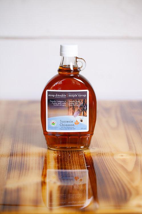 Sirop d'érable Biologique - 375ml - Sucrerie Chiasson