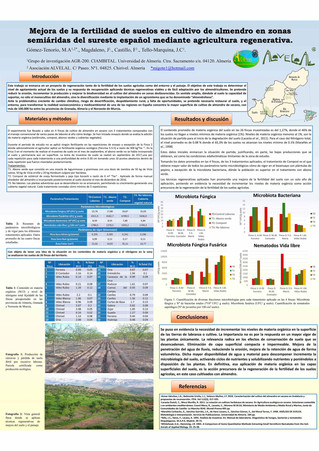 Compost para mejorar la fertilidad del suelo en cultivo de almendro