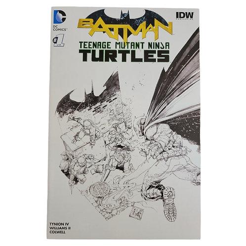 Batman TMNT #1 Captain's Comics B&W