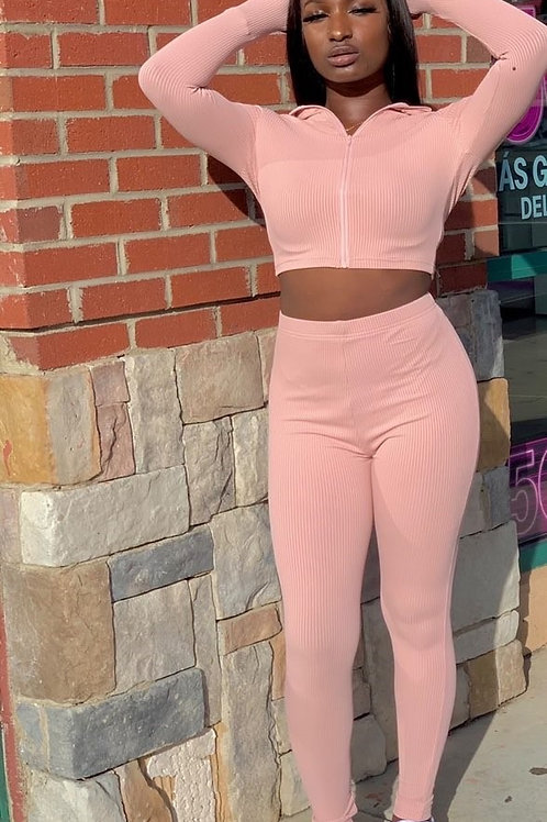 High Collar Fitness two piece