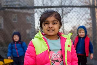 Preschool girl playground
