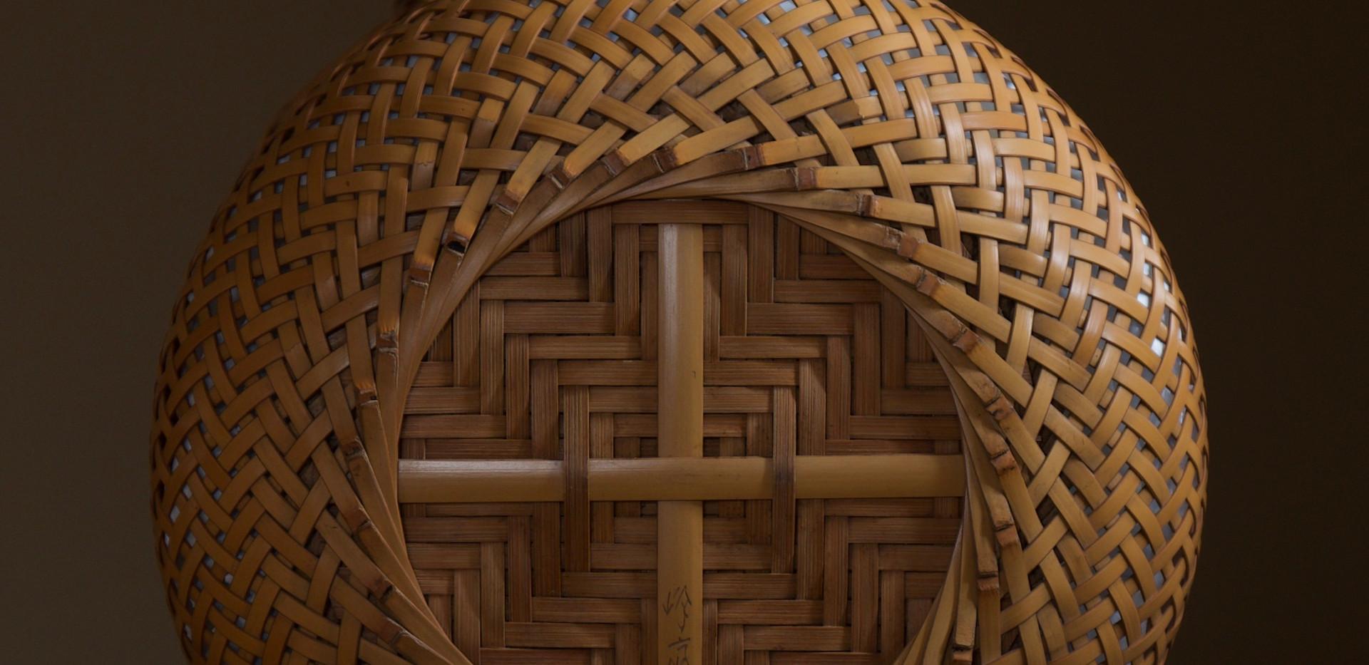 Yokota Hosai (Minesai) Leached Bamboo Basket 05.jpg