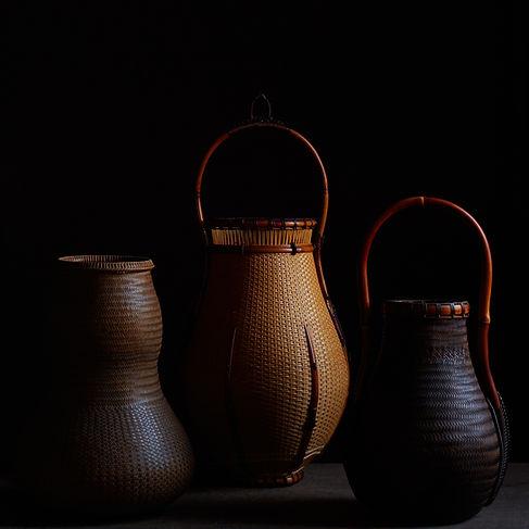 Japanese bamboo baskets by Kosuge Kogetsu