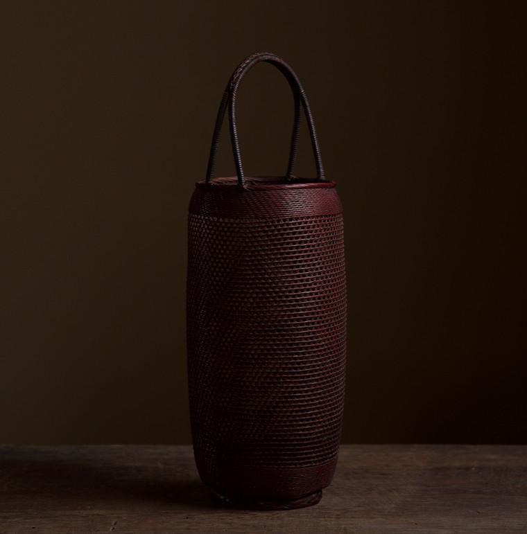 Small Bamboo Flower Basket by Morita Chikuyosai 03.jpg