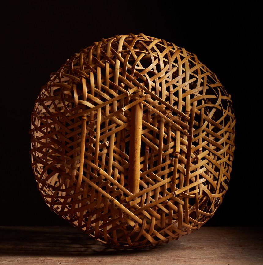 Yamamoto Chikuryusai leached bamboo bask