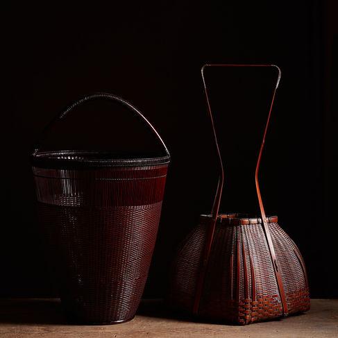 Japanese bamboo baskets by Tanabe Chikuunsai II and Noguchi Ushu.jpg