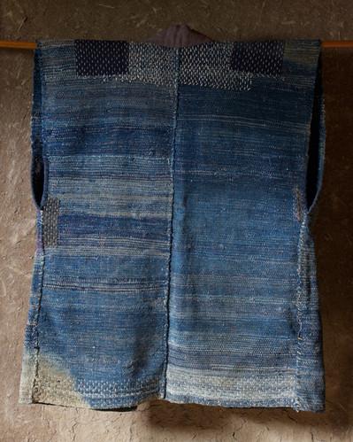 Cotton Indigo Handmade Sakiori Vest back.jpg