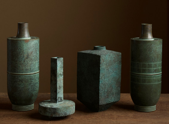 Selection of Modern Japanese Bronze Vases 02.jpg