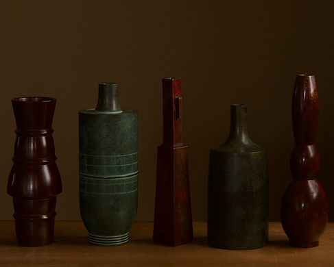 Selection of Japanese bronze vases.jpg