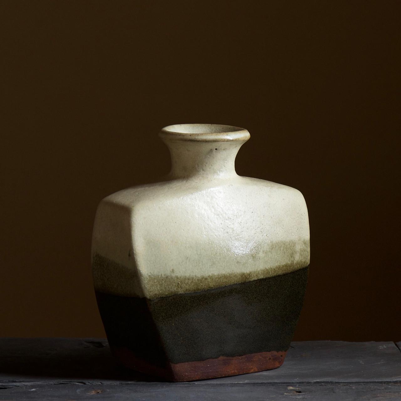 Hamada Shoji slab vase tenmoku glaze.jpg