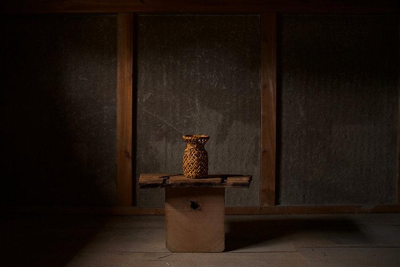 Bamboo basket by Iizuka Rokansai