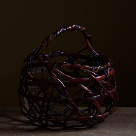 Mountain Road Susudake Flower Basket by Tanabe Chikuunsai II.jpg