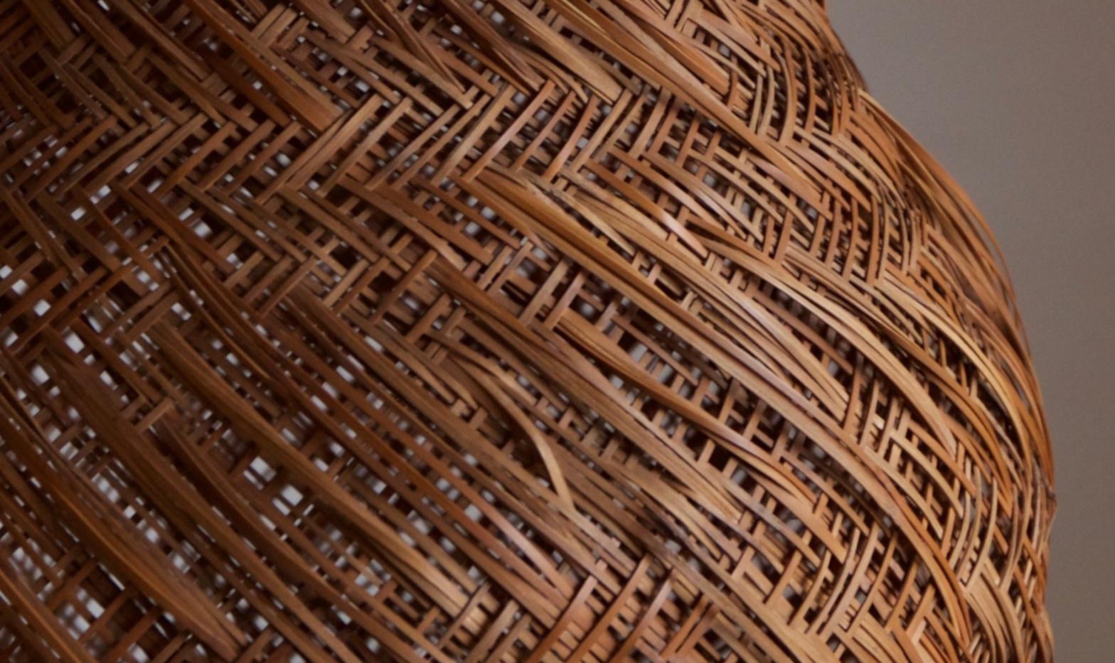 Iizuka Hosai II bamboo flower basket titled Imo/Potato 02.jpg