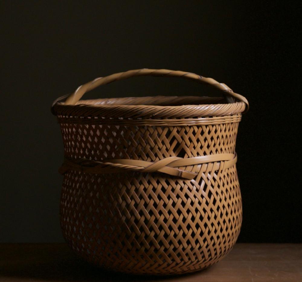 Yokota Hosai (Minesai) Leached Bamboo Basket 01.jpg