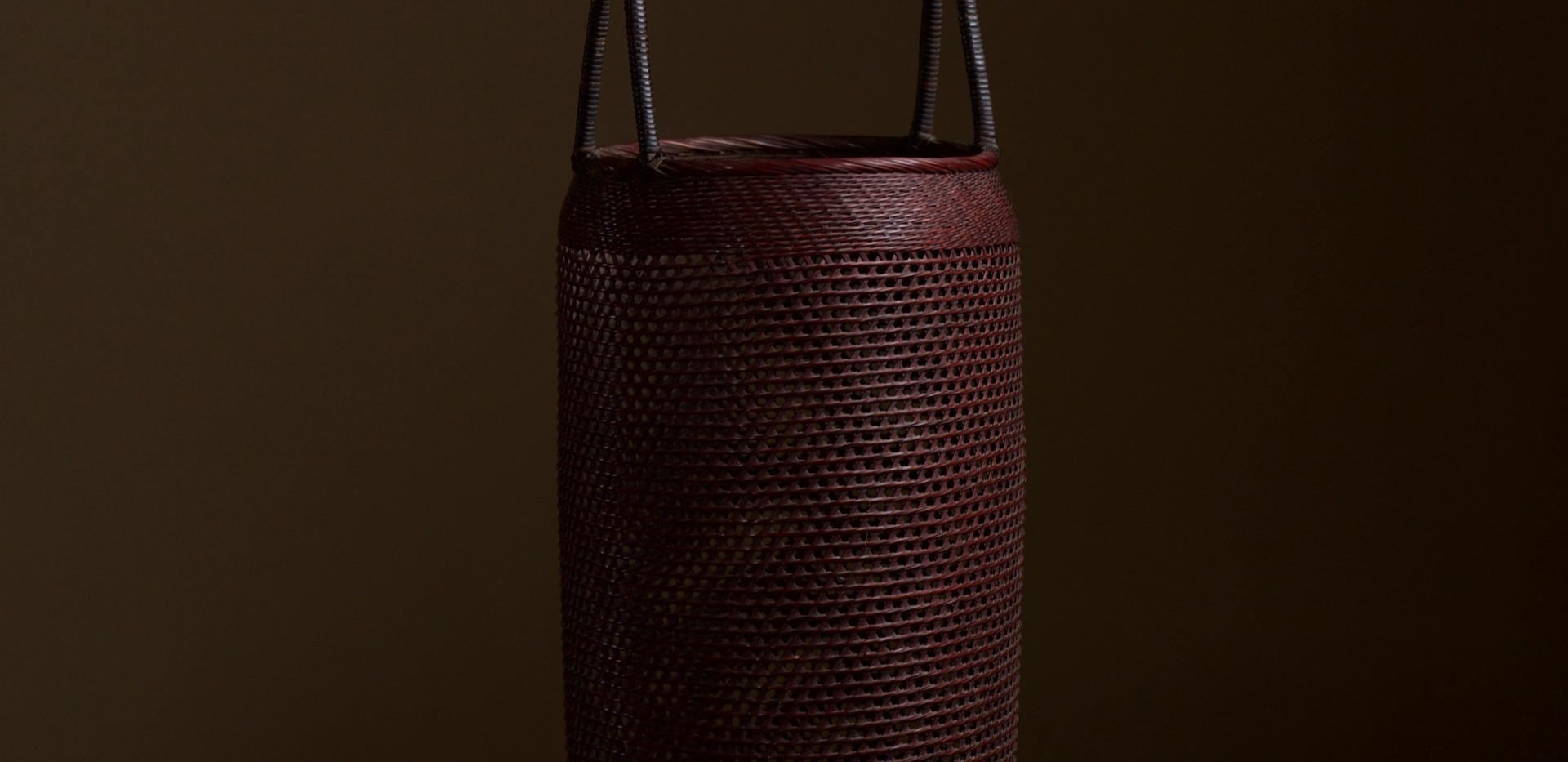 Small Bamboo Flower Basket by Morita Chikuyosai 02.jpg