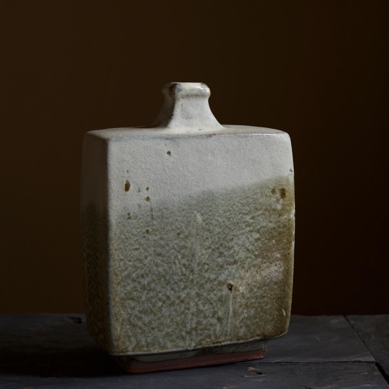 Hamada Shoji Nuka Glaze Bottle Vase.jpg