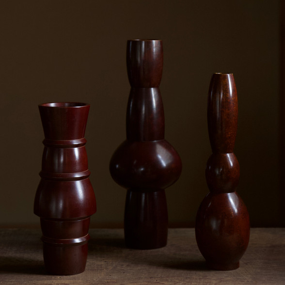 Set of high-fired bronze vases by Nakajima Yasumi II.jpg