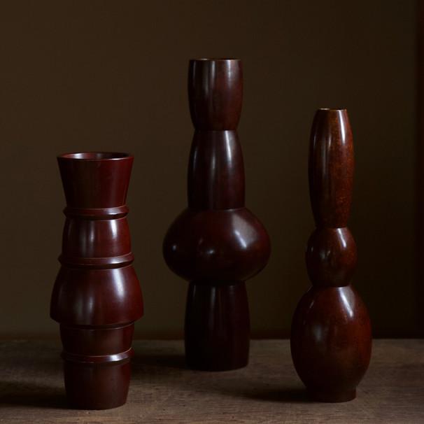 Set of high-fired bronze vases by Nakajima Yasumi II.jpg
