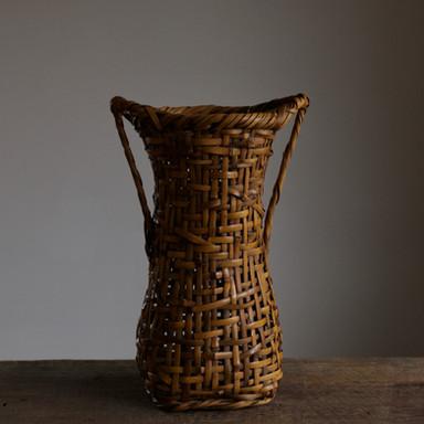 Bamboo flower basket of gomaedake or sesame bamboo by Wada Waichisai II.jpg
