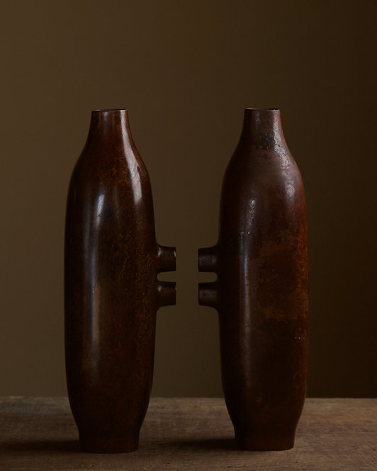 Abstract bronze vases