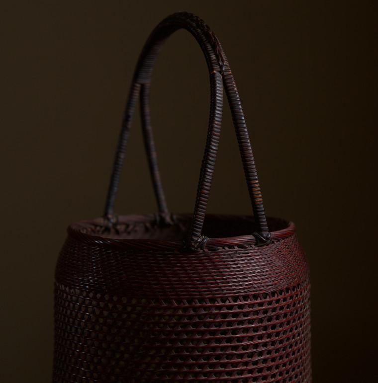 Small Bamboo Flower Basket by Morita Chikuyosai 05.jpg