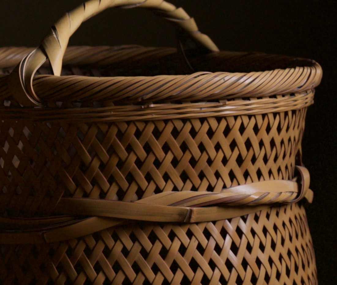 Yokota Hosai (Minesai) Leached Bamboo Basket 04.jpg