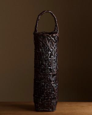 Tanabe Chikuunsai I Purple bamboo flower basket