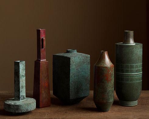 Selection of Japanese bronze vases 1.jpg