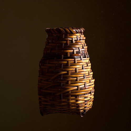 Rare wall-basket by Monden Kogyoku