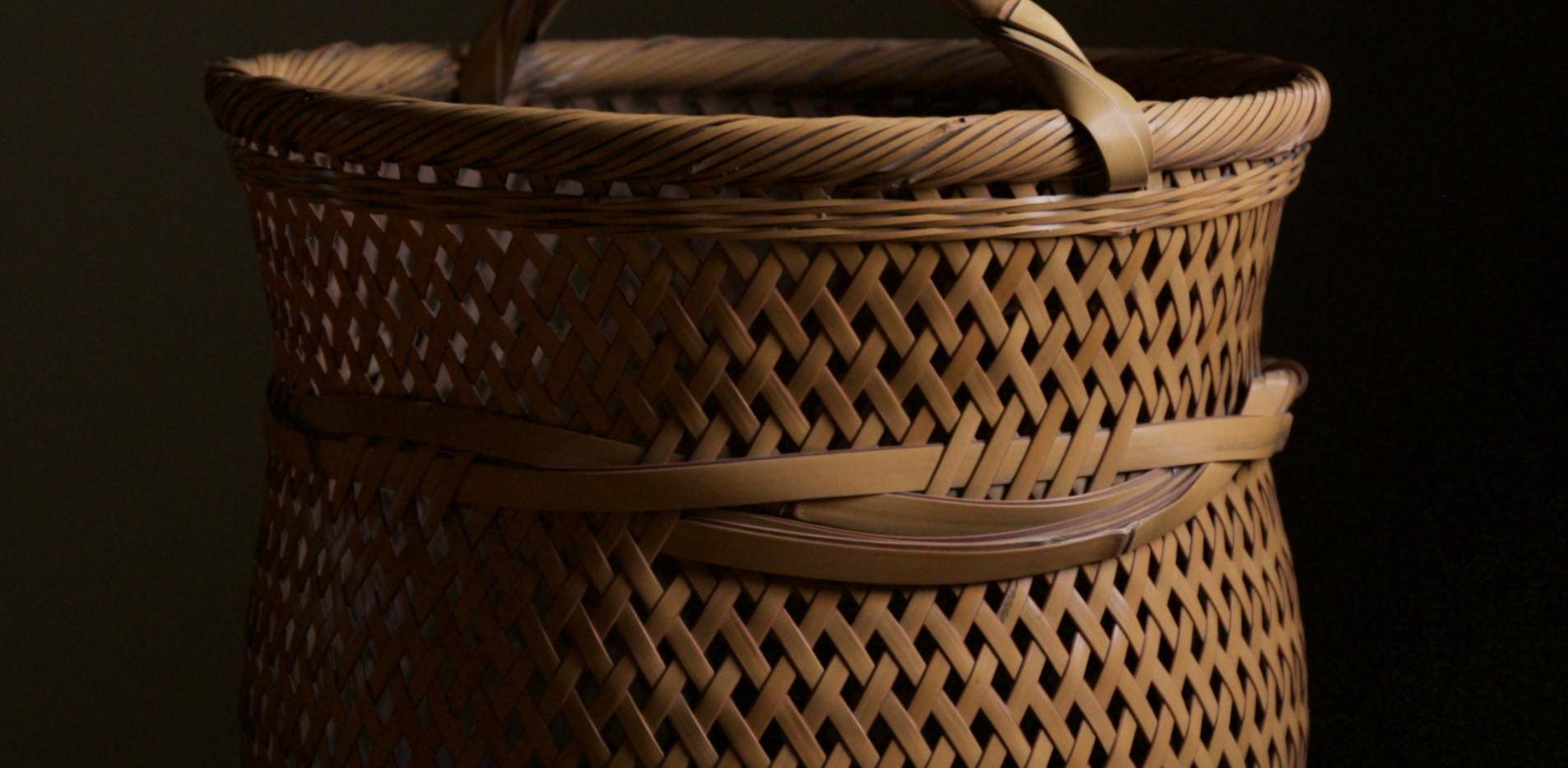 Yokota Hosai (Minesai) Leached Bamboo Basket 02.jpg