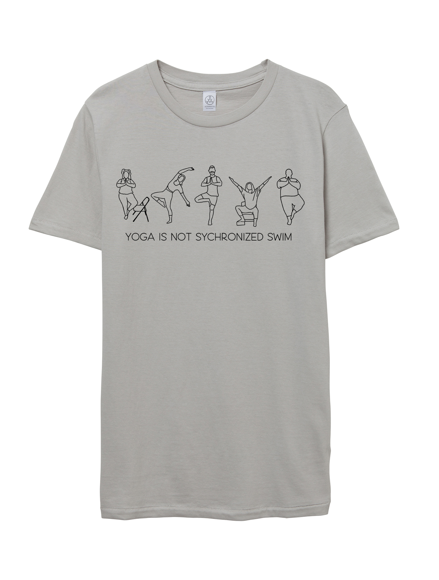 "Light Grey ""Yoga is Not Synchronized Swim"" Unisex Tee"