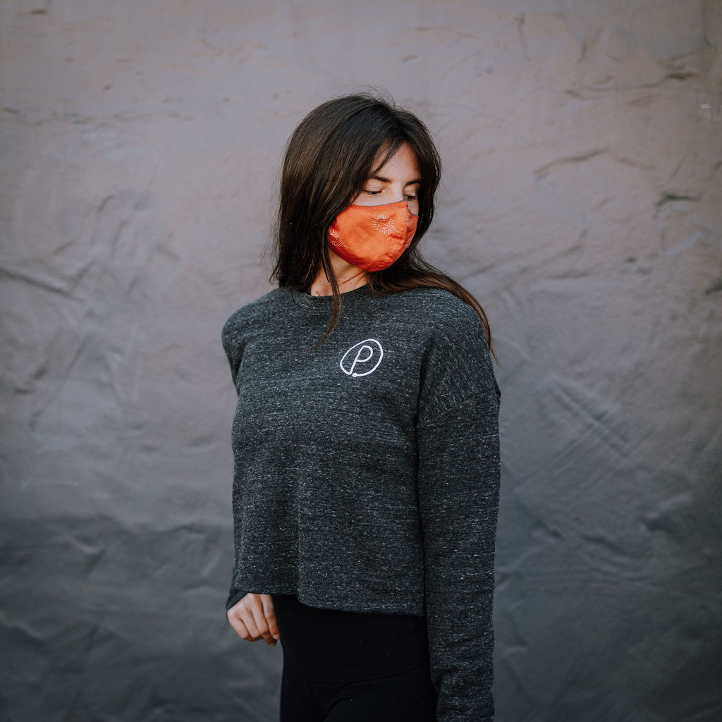 Black Balance Cropped Sweater (Front)