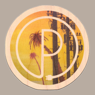 Sunset Pharm Logo Wood Sticker