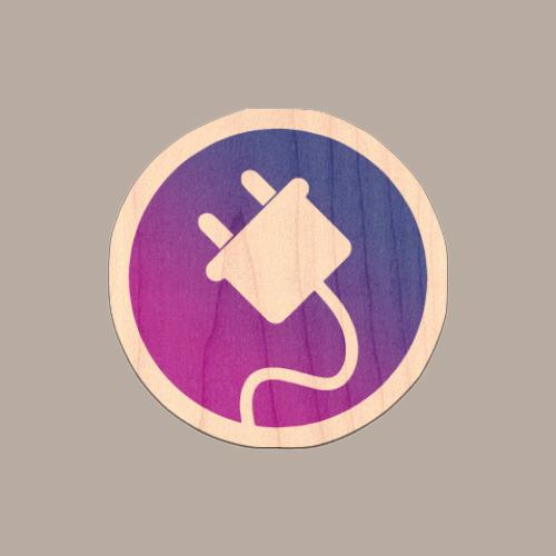 Plug Logo 2 Sticker