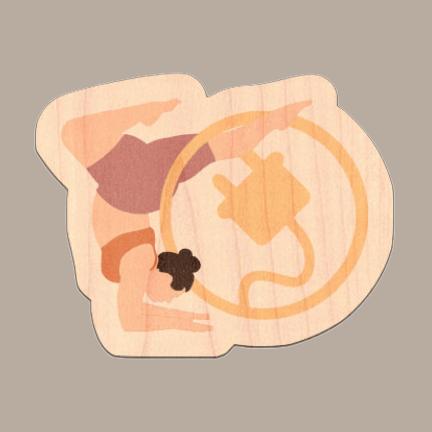 Balance Plug Wood Sticker