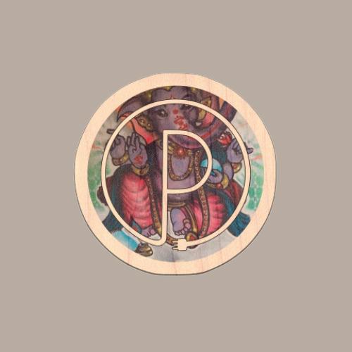 Ganesh Pharm Logo Wood Sticker