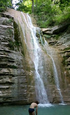 Пшадские водопады Дольмены