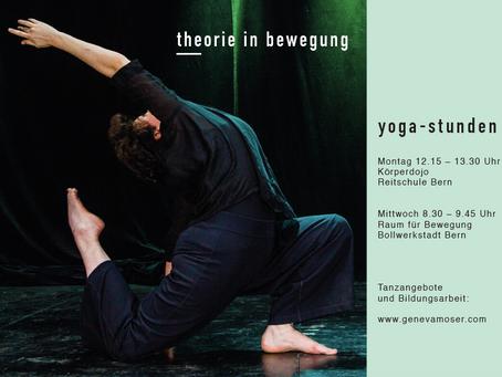 Neue Yoga-Stunde! Neuer Flyer!