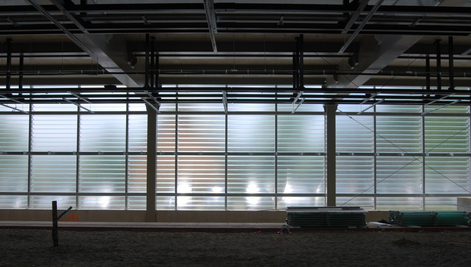 Glass elevation constuction site
