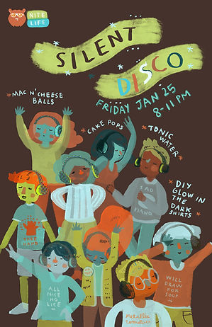 silent disco poster ursa's extravagenza.