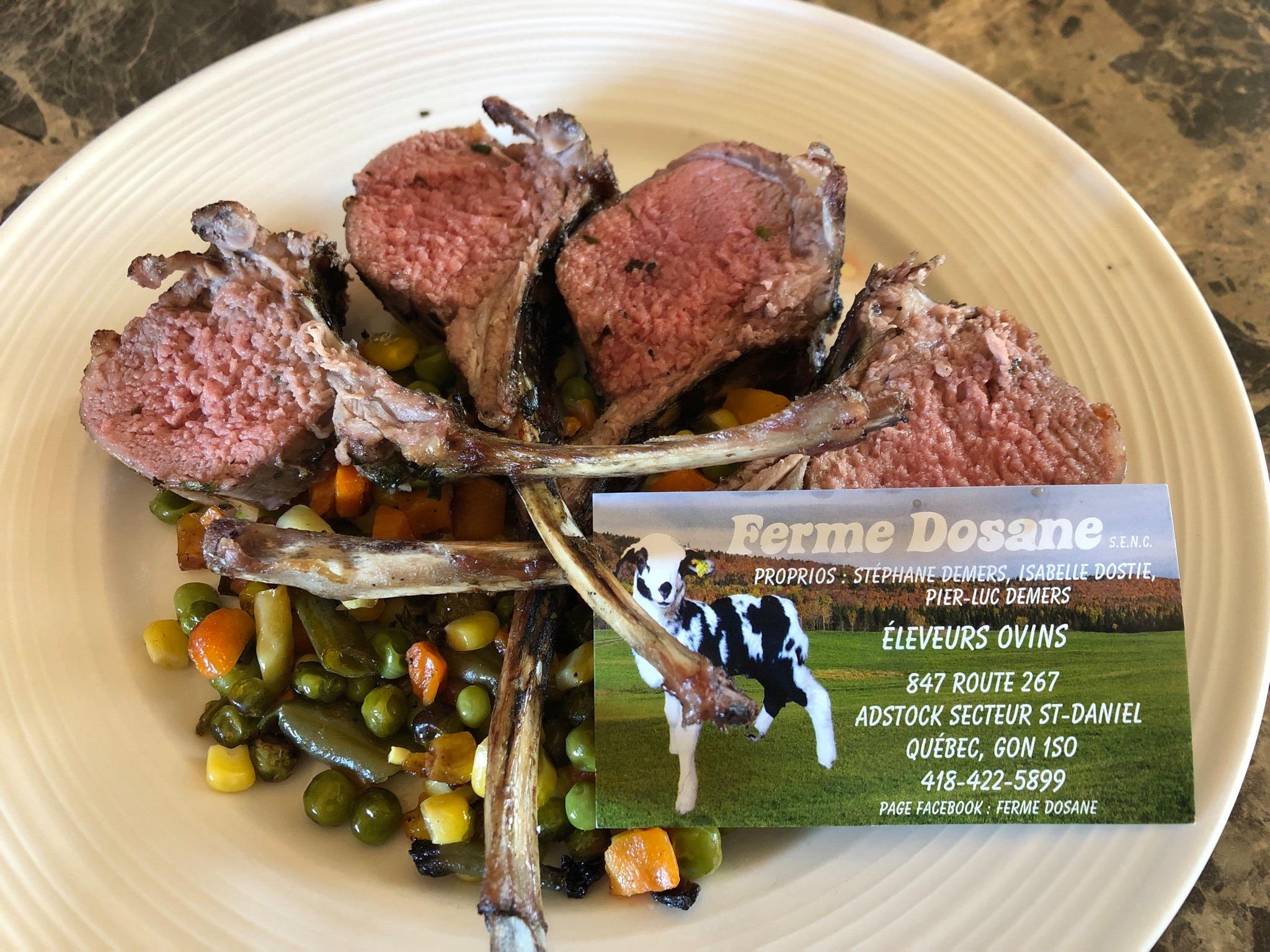 Carré d'agneau et légumes